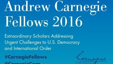 Thomas G. Weiss Named 2016 Carnegie Fellow