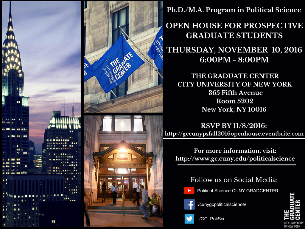 Fall 2016 Open House For Prospective Grad Students