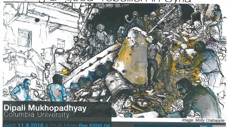 11/9: Dipali Mukhopadhyay (Columbia University)