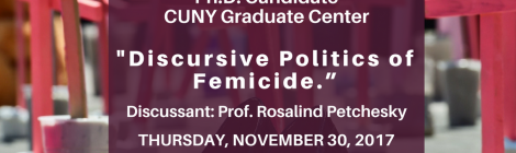 11/30/17 - Political Theory Workshop ft. Sumru Atuk @ 4:30pm