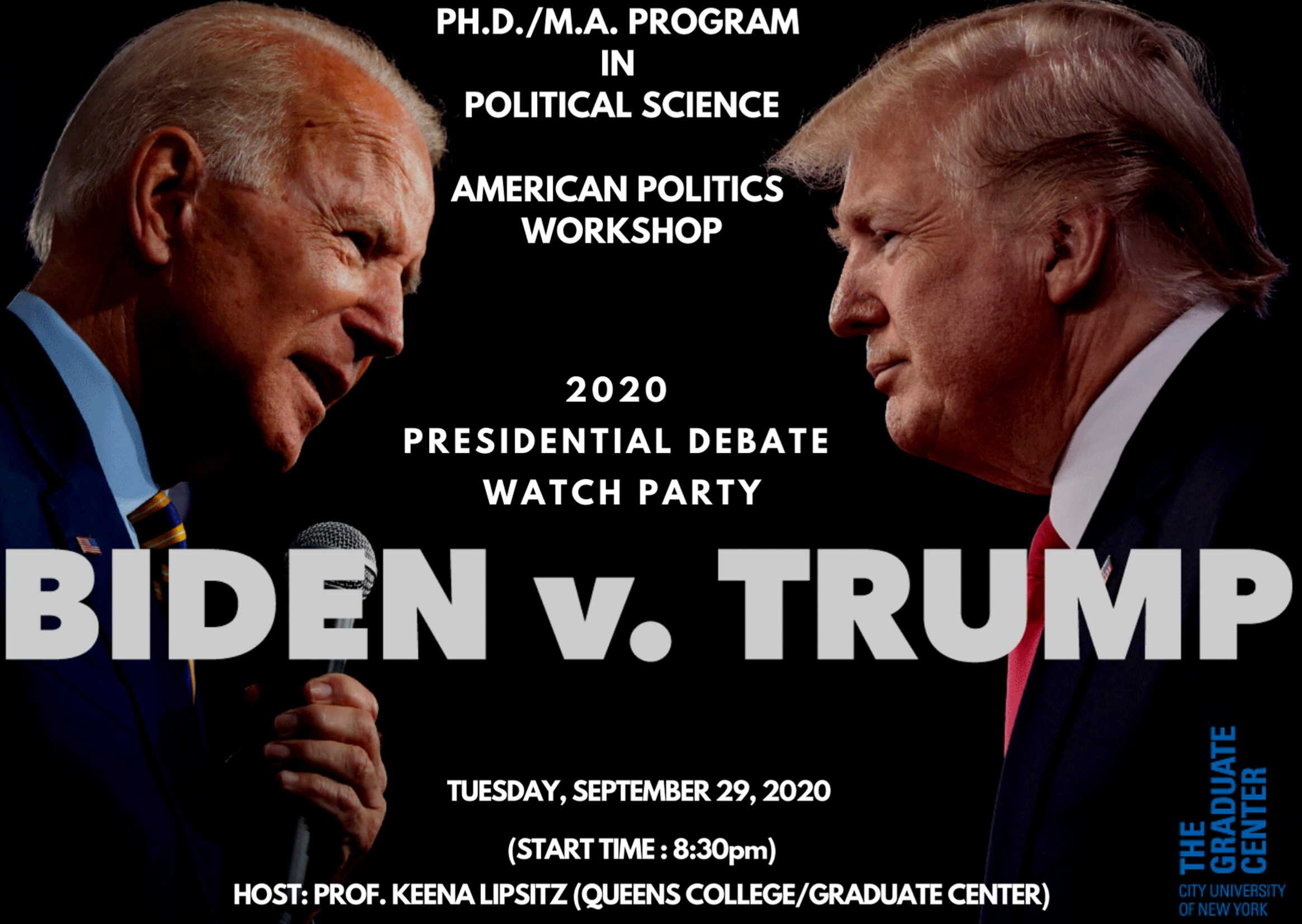 Election Series: Presidential Debate Watch Party: Tuesday, September 29, 8:30PM