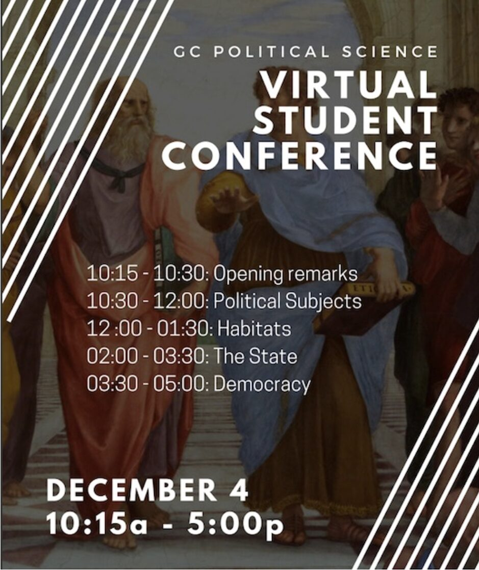 Virtual Student Conference, Friday, December 4, 10am - 5pm