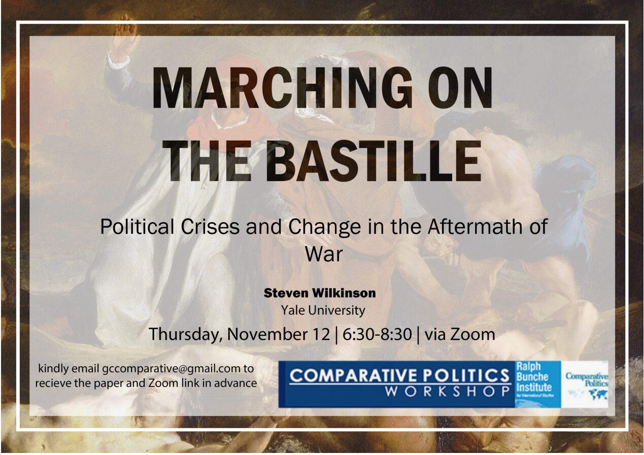 """CPW: Steven Wilkinson, """"Marching on the Bastille,"""" Thursday, November 12, 6:30PM"""